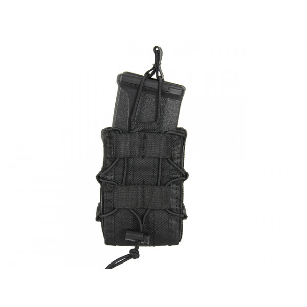 MOLLE DOUBLE RIFLE MAG SPEED POUCH - BLACK [8FIELDS]